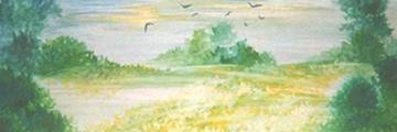 Holka Edit: Tisztás mentén (tempera, karton, 80x30cm)