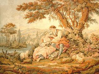 Férfi és nő - falikárpit részlet