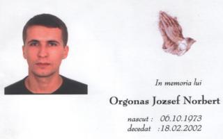 Orgon�s J�zsef - Fiam eml�k�re