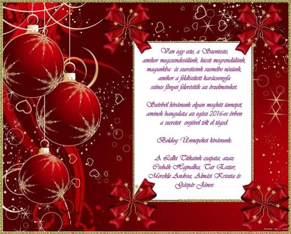 Közeledik a karácsony - Boldog Ünnepeket kívánunk